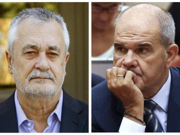 Los expresidentes de la Junta, José Antonio Griñán y Manuel Chaves