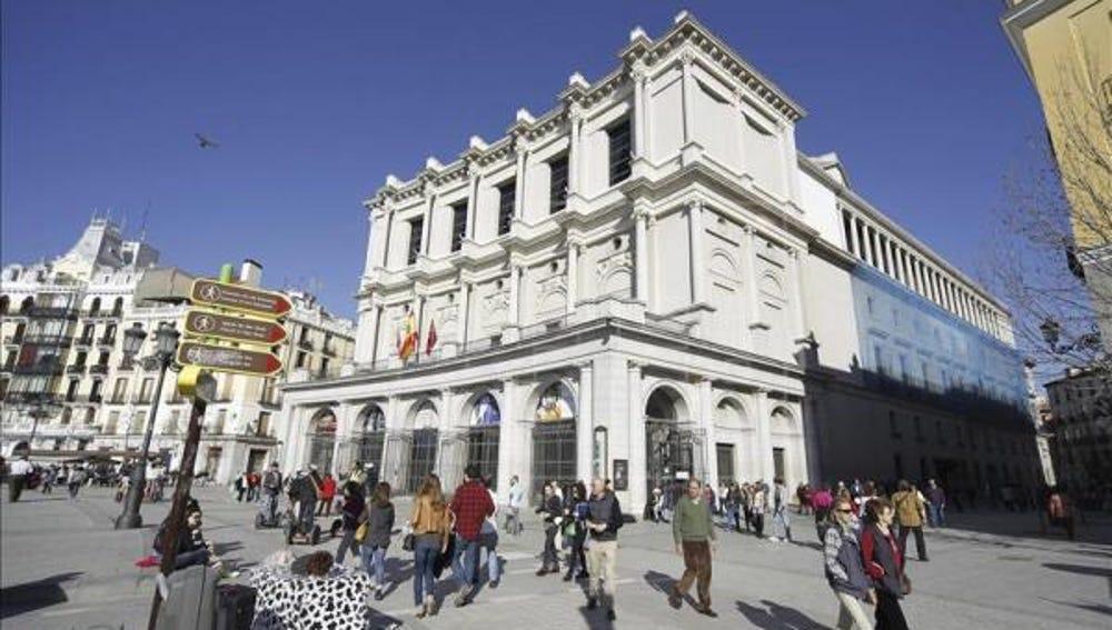 Vista de la fachada del Teatro Real de Madrid