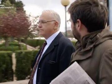 Jordi Évole, con Juan Cotino