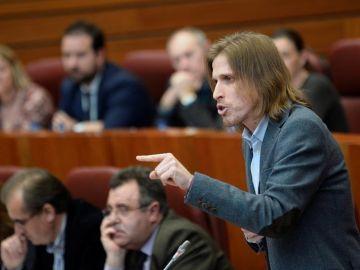El líder de Podemos en Castilla y León, Pablo Fernández