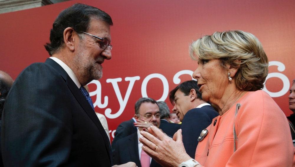 Mariano Rajoy y Esperanza Aguirre conmemoran el 2 de mayo
