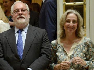 Miguel Arias Cañete con su mujer Micaela Domecq