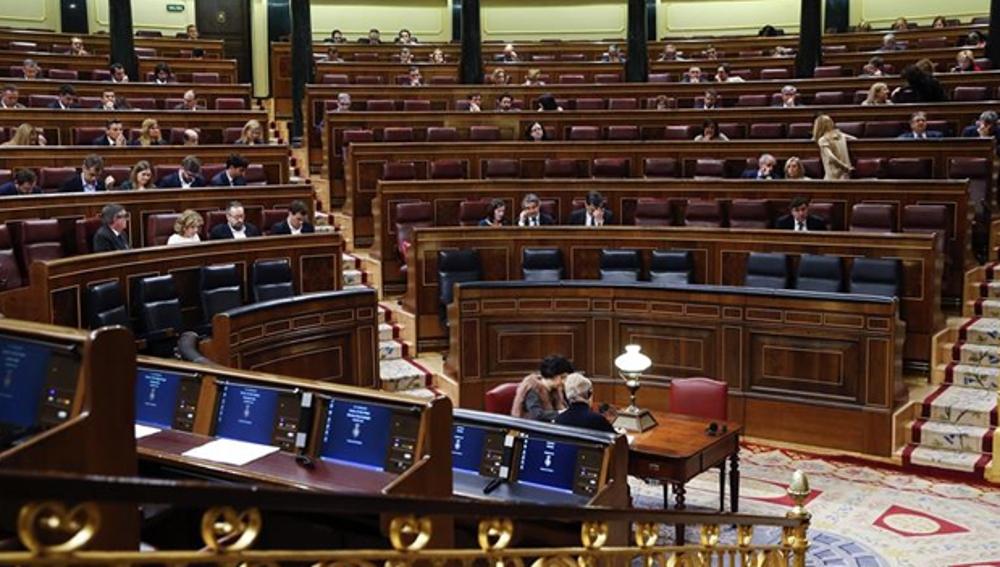 Imagen del Congreso medio vacío