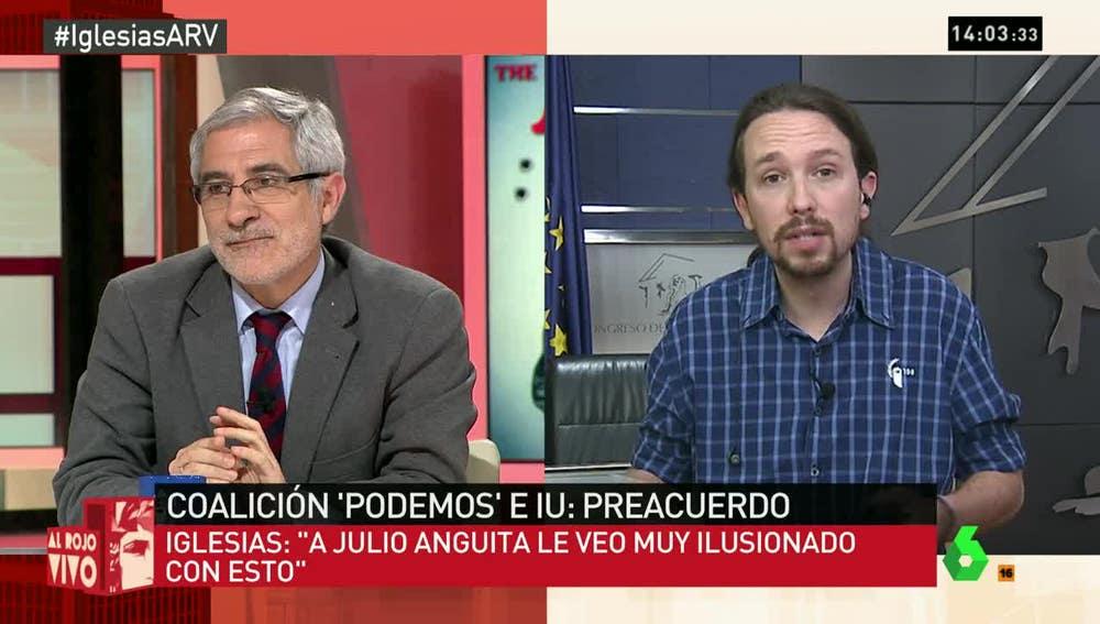 Gaspar Llamazares y Pablo Iglesias