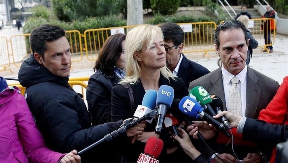 Ana Duato a las puertas de la Audiencia Nacional