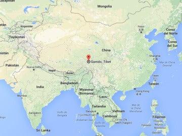 Chamdo, en la zona del Tíbet