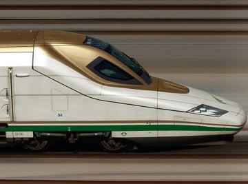 Imagen de un tren de alta velocidad