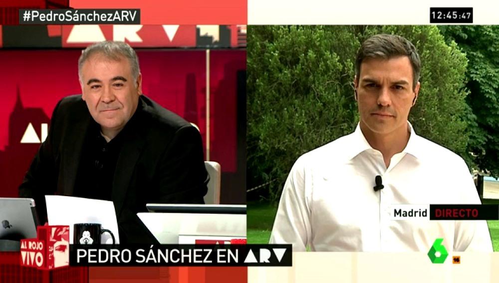 Pedro Sánchez, en ARV