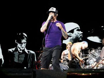 La banda Red Hot Chili Peppers, en directo
