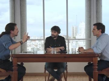 Cara a cara entre Albert Rivera y Pablo Iglesias, en Salvados