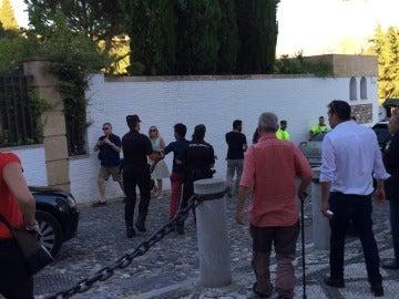 Uno de los jóvenes expulsados del mitin de Rajoy en Granada