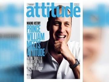 El duque de Cambridge en la portada de 'Attitude'