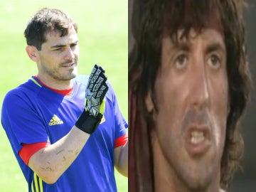 Iker Casillas se despide a lo Rambo de la Selección