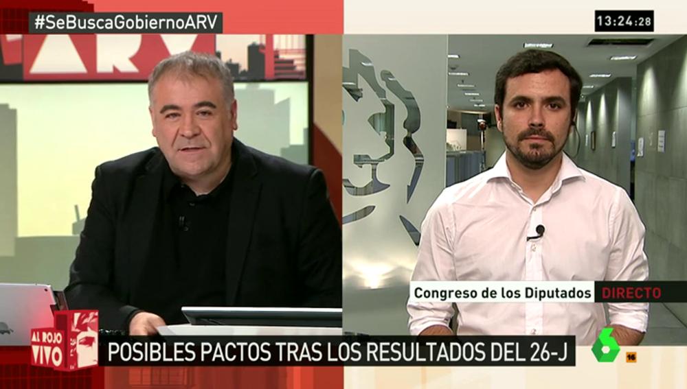 "Frame 4.274126 de: Garzón, sobre un gobierno de izquierdas: ""Cualquier acuerdo es legítimo aunque participen seis partidos"""