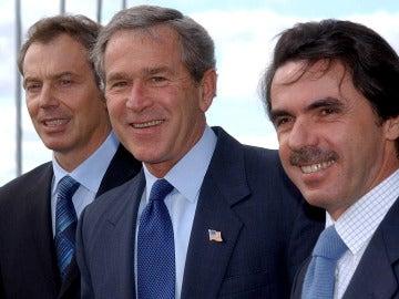 Blair, Bush y Aznar