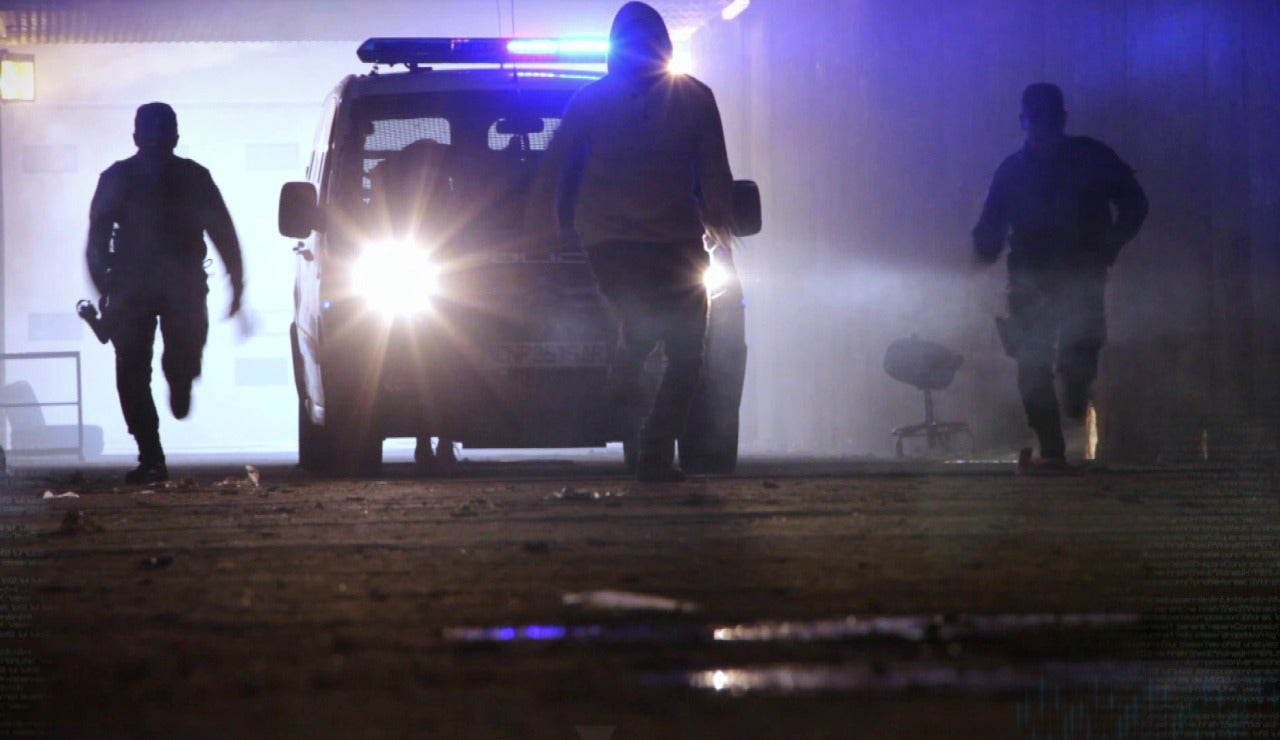 Policías en acción, en el corazón de la calle