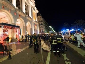 Una de las imágenes que ha dejado el atentado terrorista en Niza