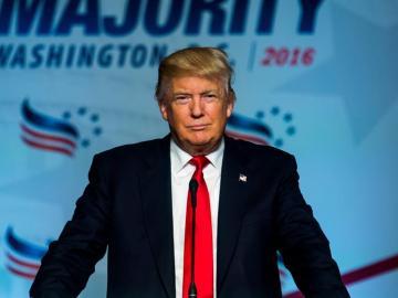 En la imagen, el aspirante republicano a la presidencia estadounidense Donald Trump.