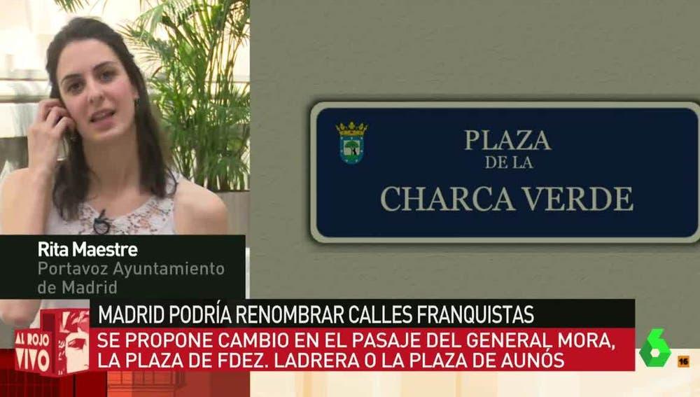 Rita Maestre, en Al Rojo Vivo