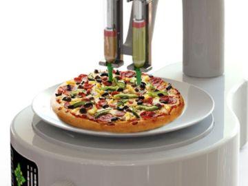 Pizza creada con impresora 3D