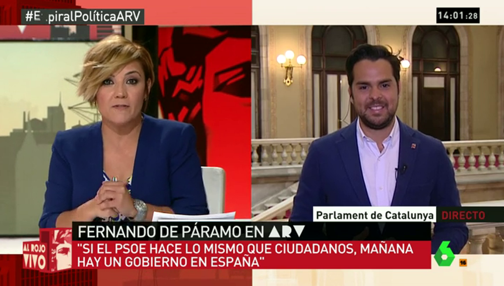 """Frame 95.799196 de: Fernando de Páramo: """"Gente sensata del PSOE dice que los socialistas se deben de abstener"""""""