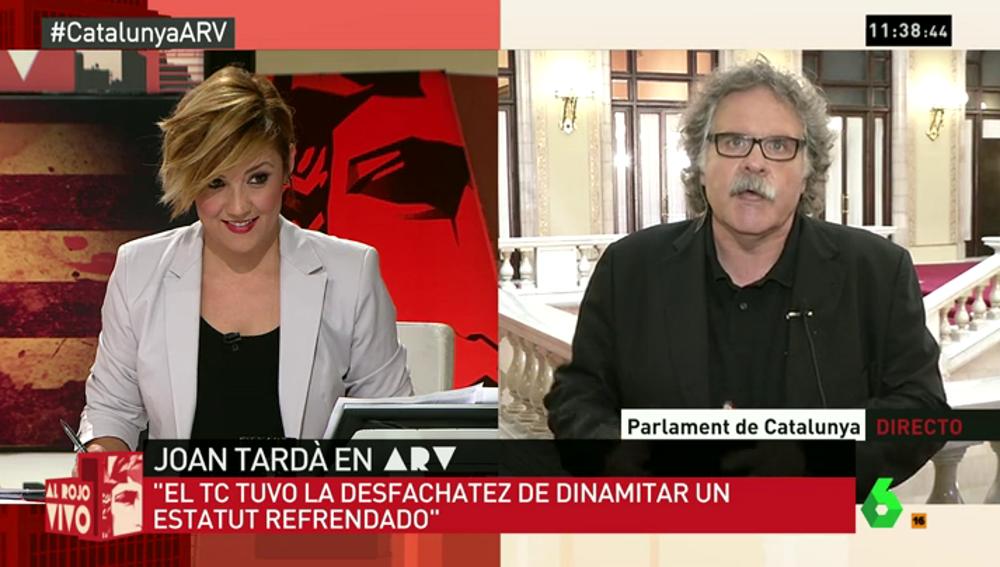 "Frame 95.255501 de: Joan Tardà: ""EL Tribunal Constitucional tuvo la desfachatez de dinamitar un Estatut refrendado"""