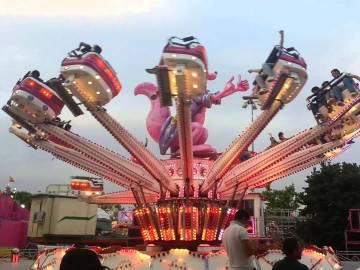 Imagen de archivo de una atracción en una feria