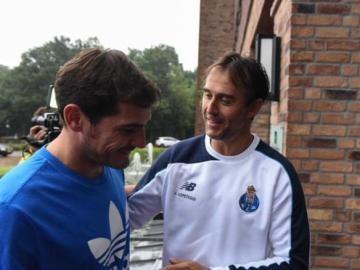 Casillas y Lopetegui