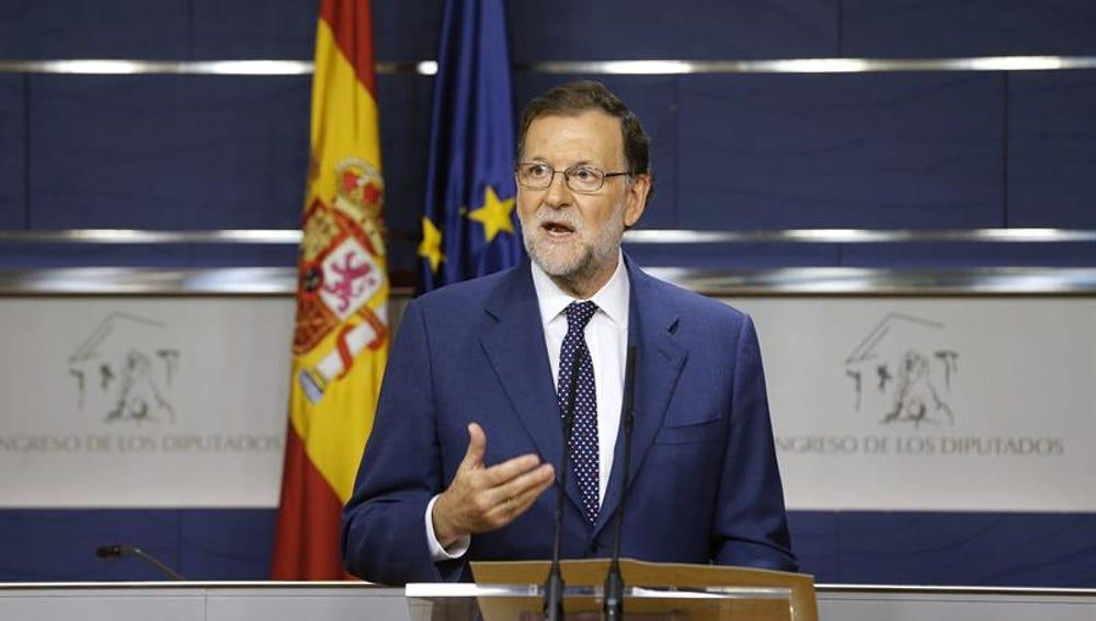 Mariano Rajoy comparece en el Congreso.