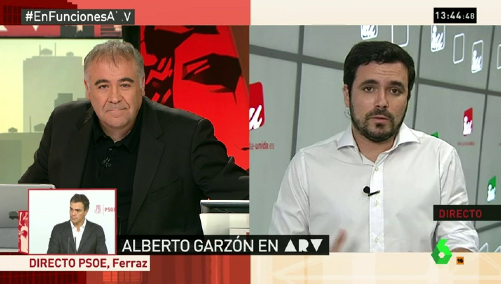 Alberto Garzón en ARV