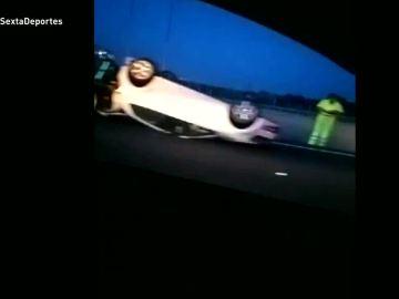 Así quedó el coche en el que viajaba Bruno Hortelano