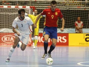 Sergio Lozano, autor del primer gol ante Irán.