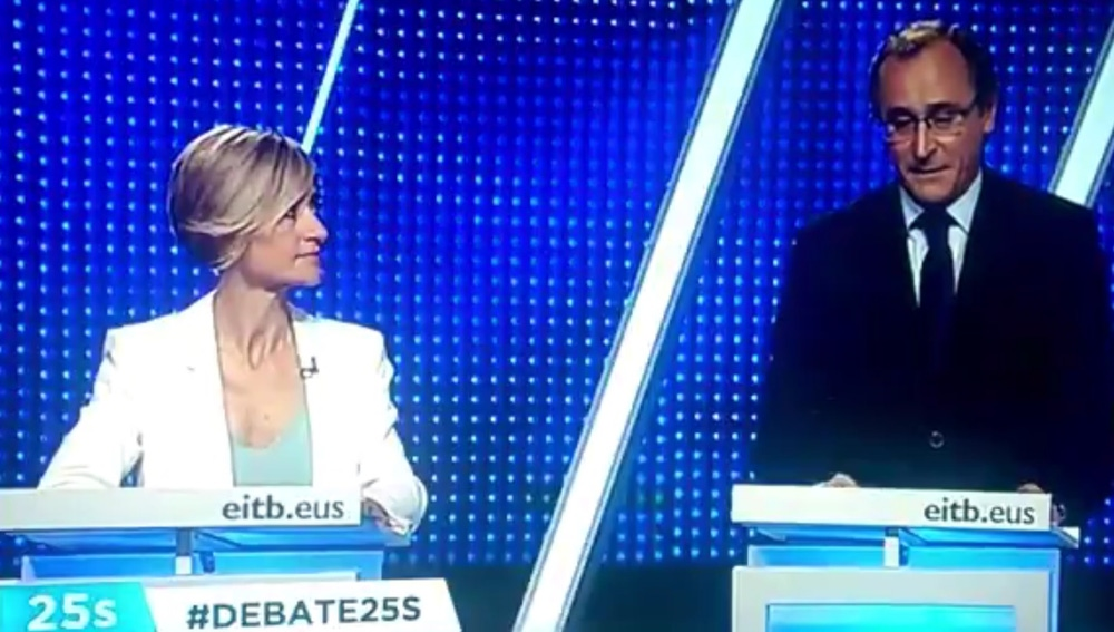 Alfonso Alonso, en el debate de las elecciones vascas del 25S