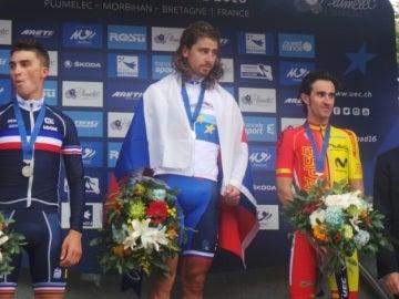 Peter Sagan, Julien Alaphilippe y Dani Moreno, el podio del campeonato de Europa