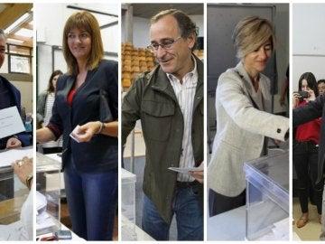 Líderes vascos votan