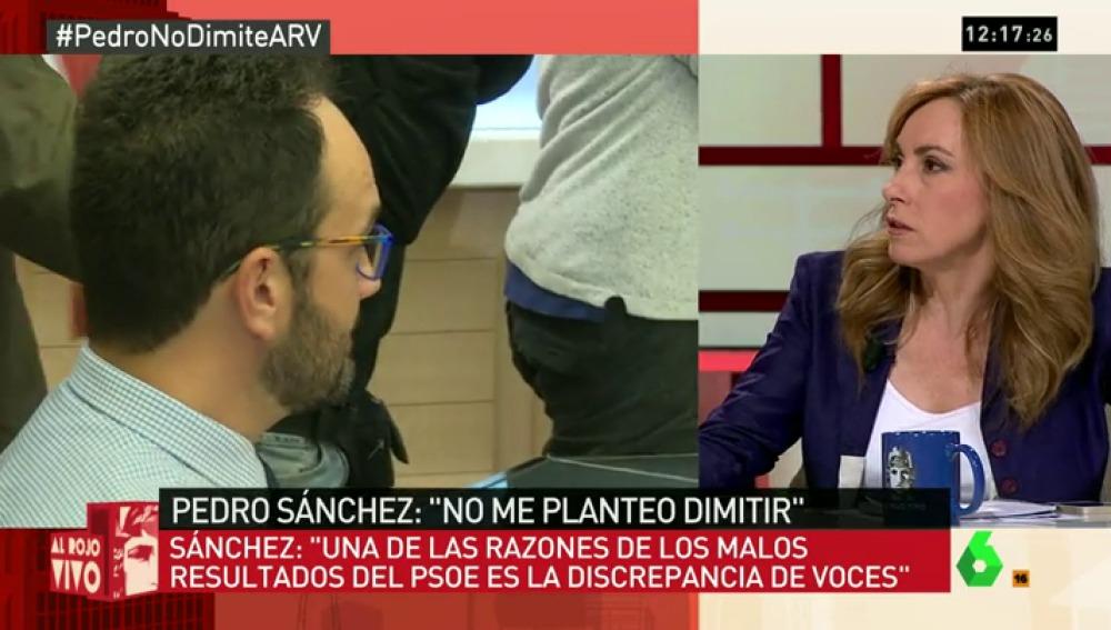 """Angélica Rubio: """"Que Pedro Sánchez no respete lo que diga el Comité Federal del PSOE es un golpe de estado del líder"""""""