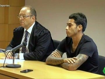 Frame 22.223415 de: Sergio Araujo, acude a un juicio rápido tras dar positivo en un control de alcoholemia