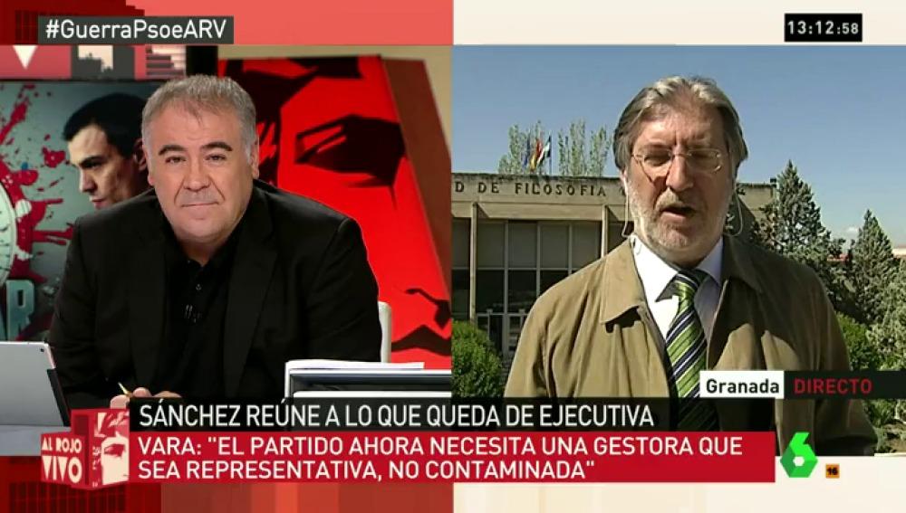 """Pérez Tapias: """"Cuando han visto que Sánchez podía desbloquear la situación han salido todos los fantasmas"""""""