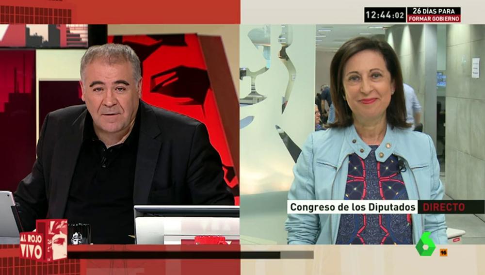 """Frame 0.0 de: Margarita Robles: """"El PP quiere a toda costa unas terceras elecciones, eso está clarísimo"""""""
