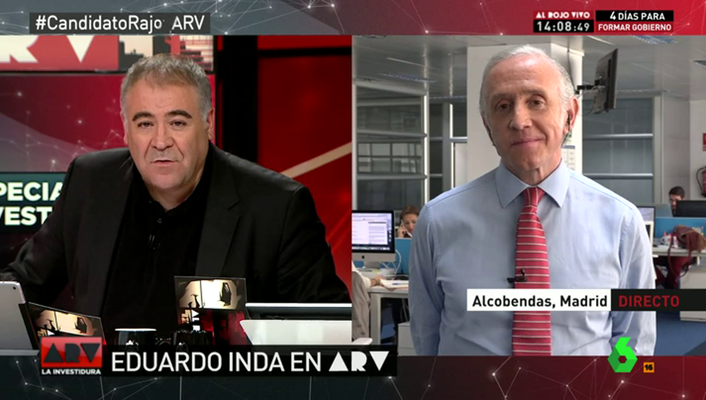 """Frame 2.450336 de: Eduardo Inda: """"Hemos visto a un Pablo Iglesias más chulesco, macarra y más echado al monte que nunca"""""""