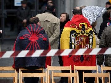 Asistentes a la concentración franquista
