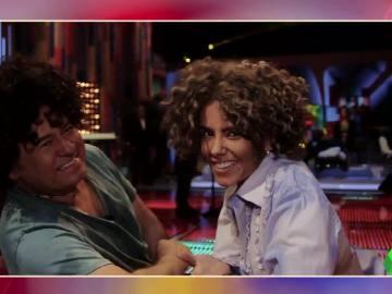 Cristina Pedroche y Miki Nadal, en Tu cara casi me suena