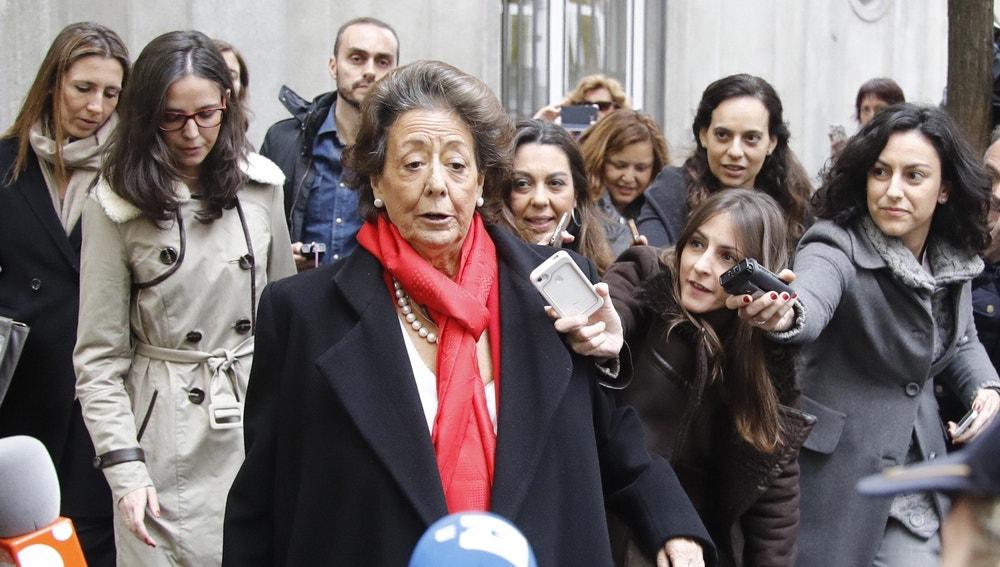 La senadora y exalcaldesa de Valencia por el PP, Rita Barberá