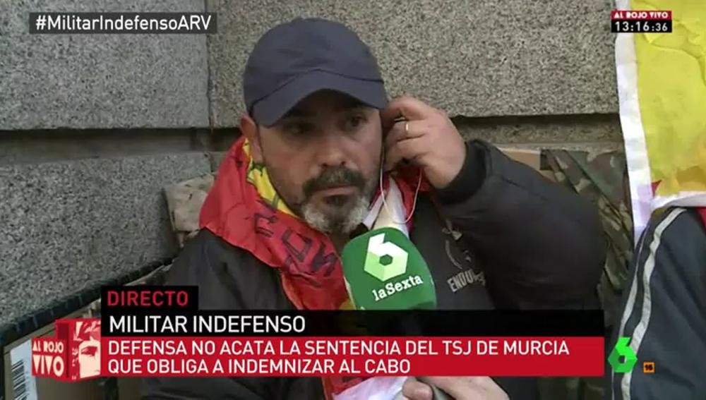"""Frame 0.0 de: Andrés, militar en huelga de hambre para exigir su pensión: """"Mis hijos están pasando hambre y no puedo seguir así"""""""