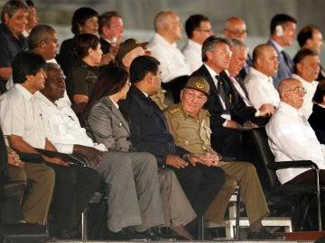 Líderes en el homenaje a Fidel Castro