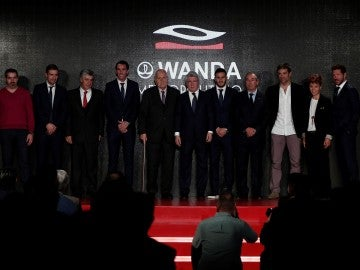 Gabi en la presentación del nombre del Wanda Metropolitano