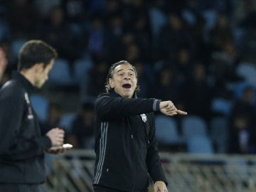Prandelli en el partido contra la Real Sociedad