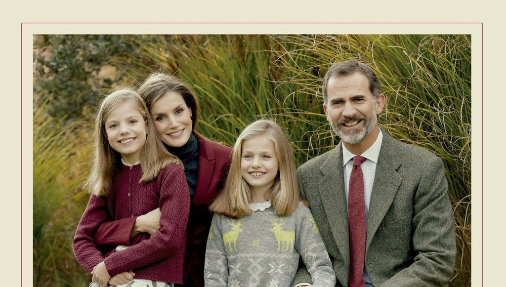 Felicitación navideña de los reyes de España y sus hijas