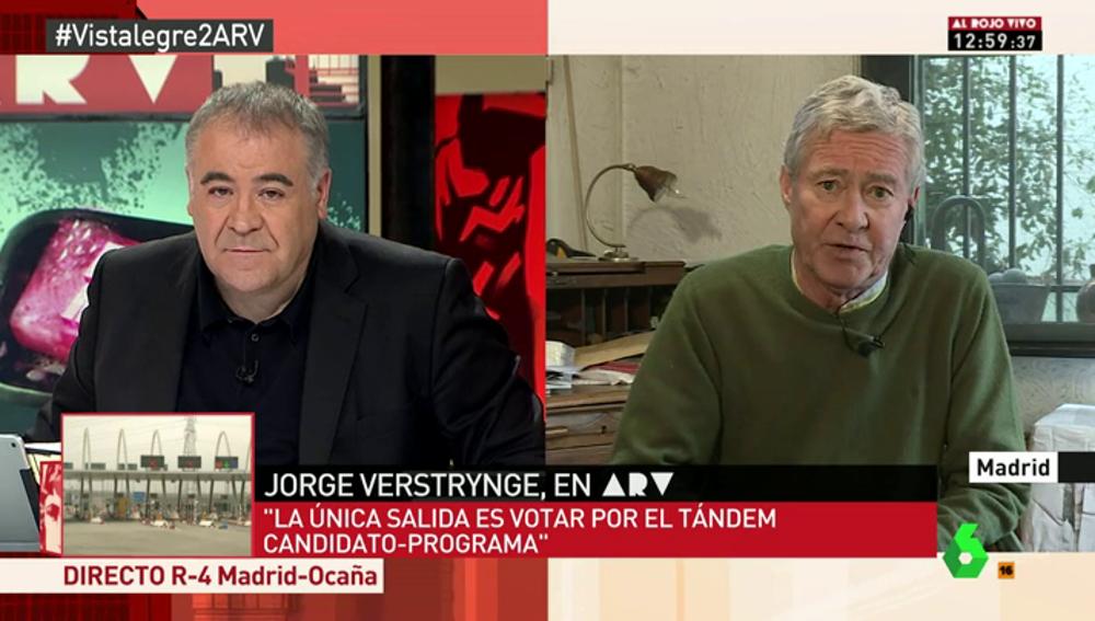 """Frame 122.370475 de: Jorge Verstrynge: """"La eliminación de Pablo Iglesias como líder de Podemos sería una catástrofe para el partido"""""""