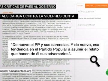 """Frame 27.316052 de: La Fundación FAES, después de las declaraciones de Santamaría: """"De nuevo, el PP y sus carencias"""""""
